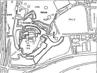岡崎城縄張図