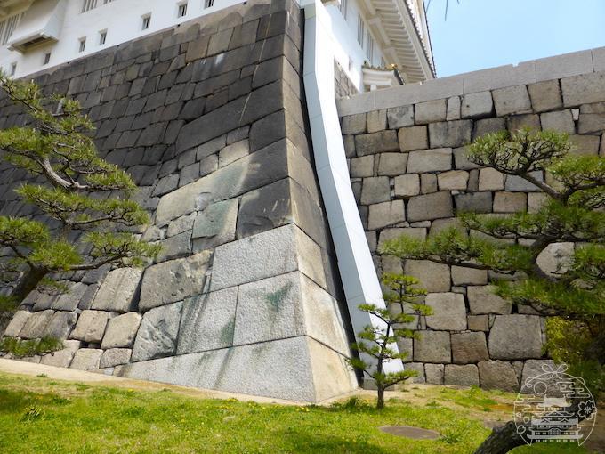 大阪城に残る戦争の傷跡